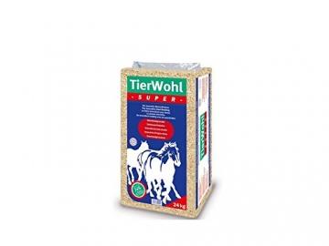 24Kg TierWohl Super Pferdeeinstreu Boxen Einstreu Weichholz Granulat - 1