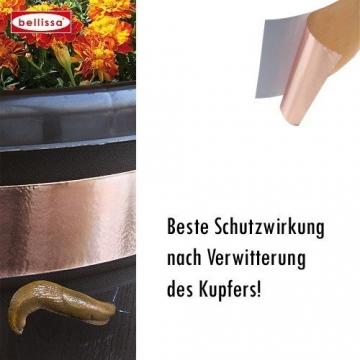 Bellissa Schneckenband Kupfer selbstklebend 500x3 cm / Nacktschnecken / Absperrband / 5 Meter von Gartenwelt Riegelsberger - 1