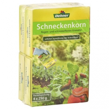Dehner Schneckenkorn, 4 x 250 g (1 kg), für ca. 1.200 qm - 1