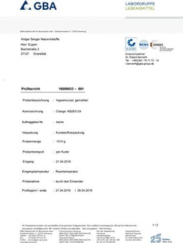 Naturix24 - Ingwerpulver, Ingwer gemahlen - 500g Beutel - 2