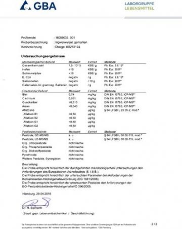 Naturix24 - Ingwerpulver, Ingwer gemahlen - 500g Beutel - 3