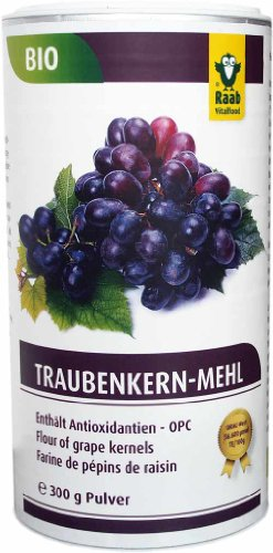Raab Vitalfood Bio-Traubenkernmehl 300g, 1-er Pack (1 x 300 g) - Bio - 1