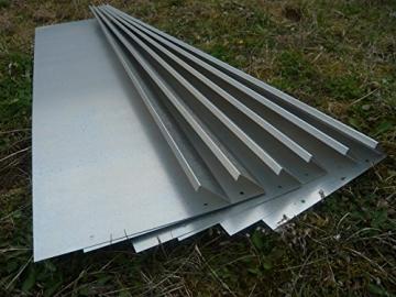 Schneckenzaun Metall für max. 20 qm (18 Bleche, 4 Ecken) - 1