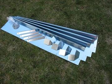 Schneckenzaun Metall für max. 20 qm (18 Bleche, 4 Ecken) - 8
