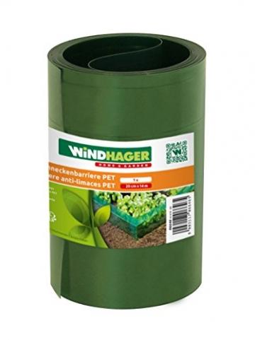 Windhager Schneckenabwehr / barriere PET, 20 cm x 8 m, grün - 2