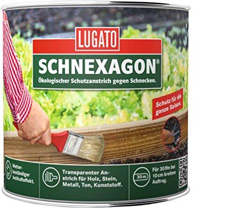 lugato schnexagon 375ml kologischer schutzanstrich gegen schnecken mittel gegen nacktschnecken. Black Bedroom Furniture Sets. Home Design Ideas
